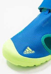 adidas Performance - TERREX CAPTAIN TOEY UNISEX - Chodecké sandály - glow blue/signal green - 2