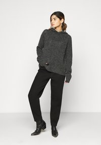 Noisy May Tall - NMWARREN HOODIE TALL - Pullover - dark grey melange - 1