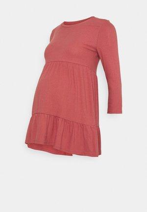 NURSING DRESS - Jerseykjole - dusty cedar