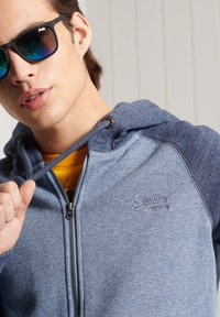 Superdry - Zip-up hoodie - slate blue grit - 1