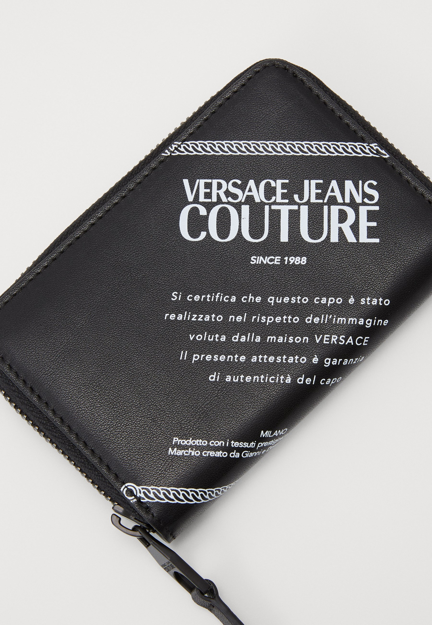 Versace Jeans Couture Lommebok - black/white/svart H0pG2HDPjBMINQo