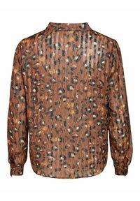 Vila - Button-down blouse - tobacco brown - 5