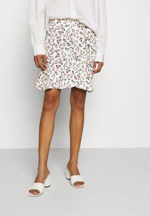 CRESSIDA - Mini skirt - white/multicoloured