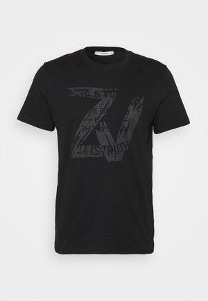 TOMMY NEW BLASON - Print T-shirt - noir noir