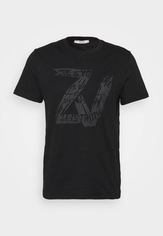 TOMMY NEW BLASON - T-shirt con stampa - noir noir