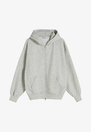 OVERSIZE - Zip-up sweatshirt - grey