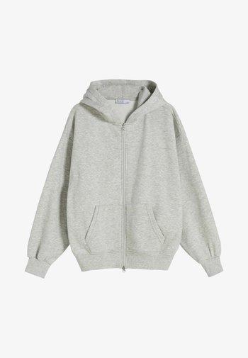 OVERSIZE - Felpa con zip - grey