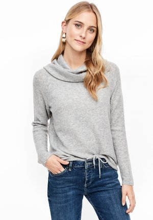 MIT LOCKEREM ROLLKRAGEN - Jumper - grey melange