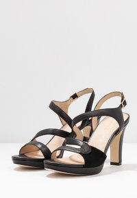 Anna Field - LEATHER HIGH HEELED SANDALS - Højhælede sandaletter / Højhælede sandaler - black - 4