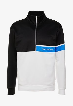 ATHLETICS SELECT TRACK  ZIP - Sweatshirt - black/white