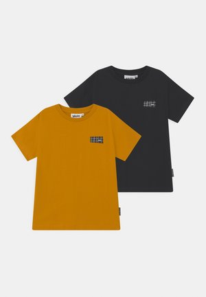 RASMUS 2 PACK - T-shirt basic - honey/navy