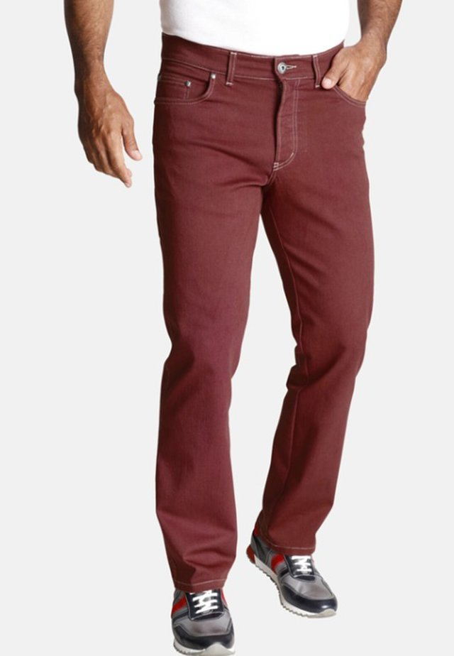 GUNNAR - Straight leg jeans - dark red
