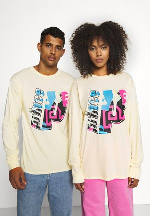LARGE GRAPHIC UNISEX - Long sleeved top - cream