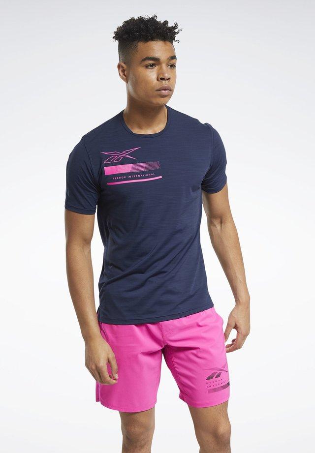 ACTIVCHILL GRAPHIC MOVE T-SHIRT - T-shirt imprimé - blue