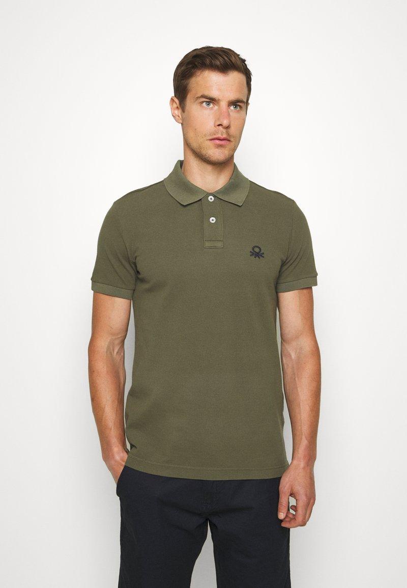 Benetton - SLIM - Polo shirt - dark green