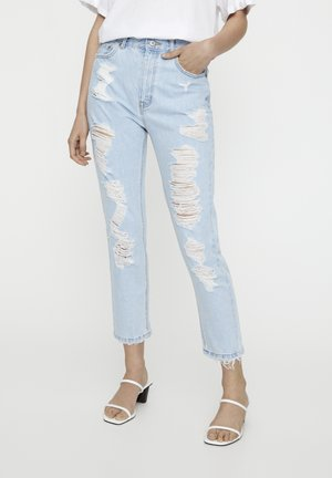Slim fit jeans - mottled light blue