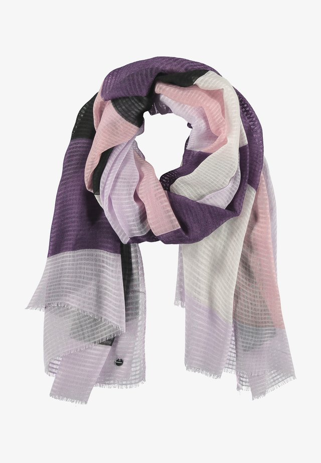 Sjaal - pastel lilac gemustert