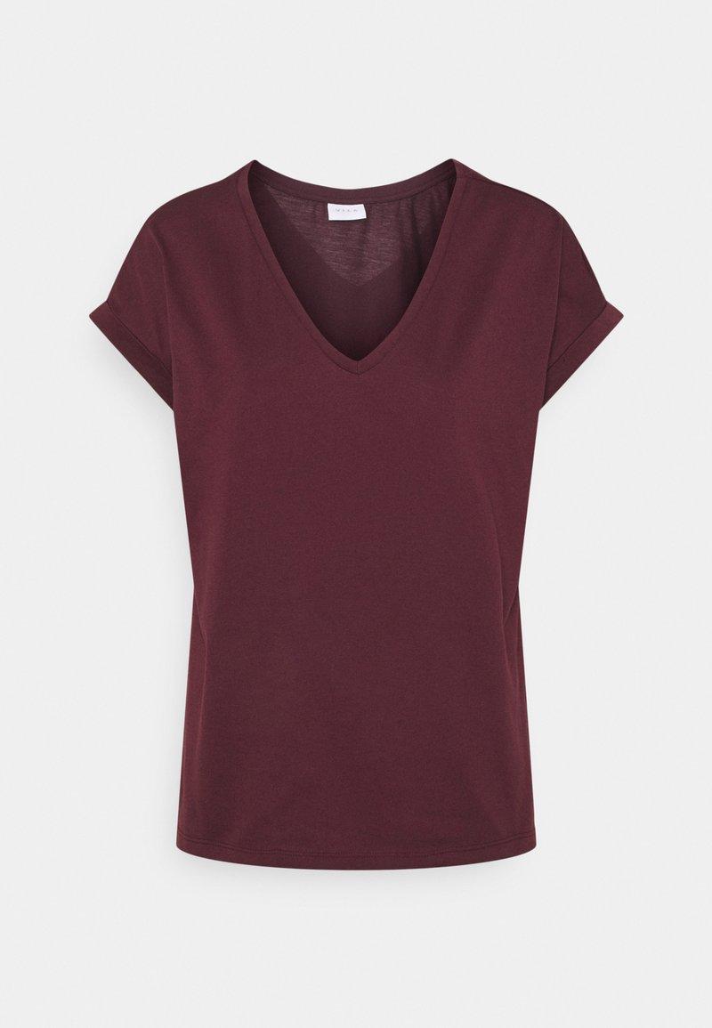 Vila - VIDREAMERS V-NECK - T-shirt basique - winetasting