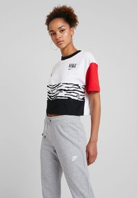 Nike Sportswear - PANT TIGHT - Tracksuit bottoms - dark grey heather/white - 3