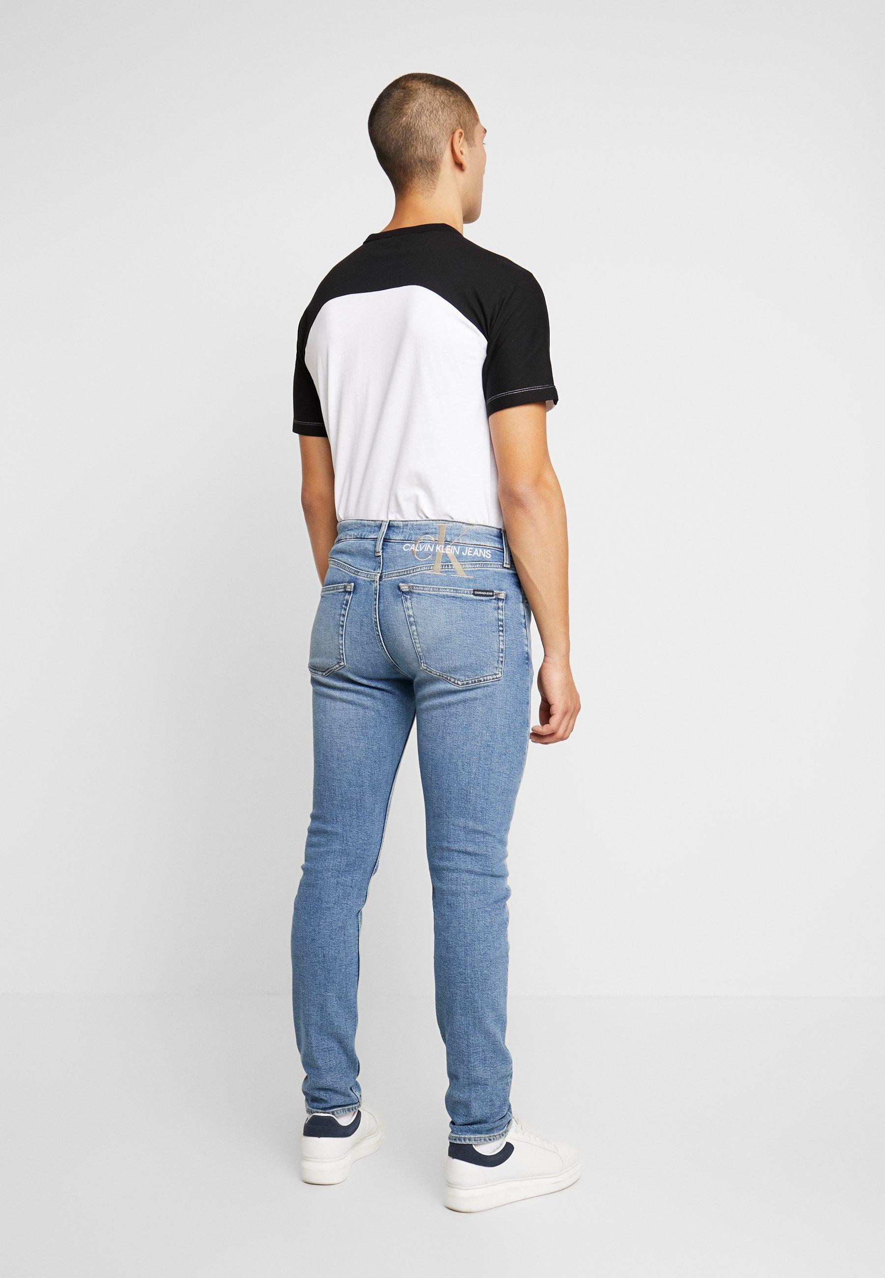 Alkuperäinen Miesten vaatteet Sarja dfKJIUp97454sfGHYHD Calvin Klein Jeans SLIM TAPER Tapered-Farkut mid blue