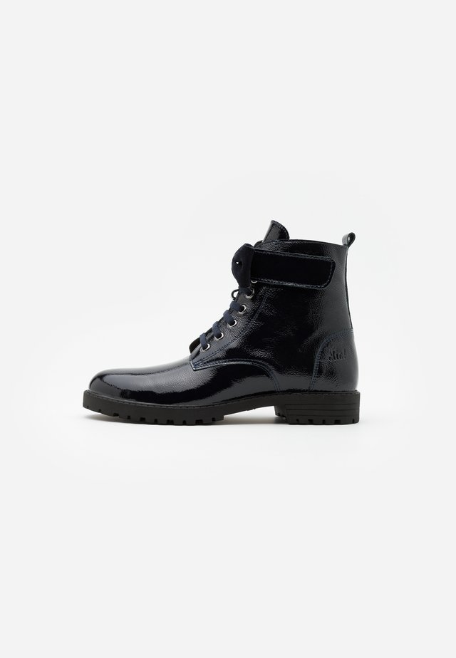 Lace-up ankle boots - azul/basket navy
