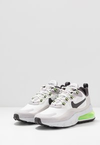 Nike Sportswear - AIR MAX  REACT - Sneakers - summit white/electric green/vast grey/silver lilac/thunder grey - 2