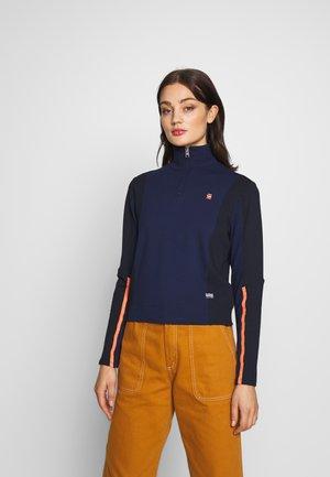 NOSTELLE BIKER HALFZIP - Zip-up hoodie - servant blue/mazarine blue