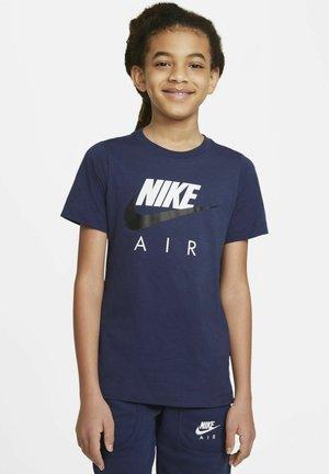 TEE AIR - T-shirt print - midnight navy/black