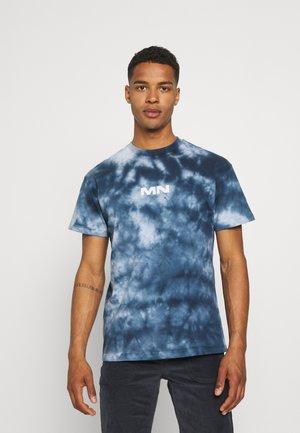 BREEZE TIE DYE REGULAR UNISEX - Print T-shirt - navy