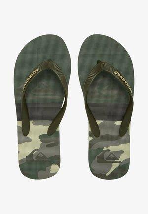 T-bar sandals - green/black/green