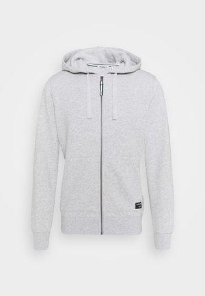 CENTRE ZIP HOOD - Zip-up sweatshirt - light grey melange