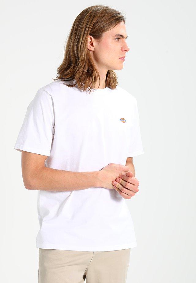 STOCKDALE - T-shirt basic - white