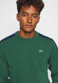 Lacoste Sport - RAINBOW TAPING - Sweatshirt - green/silver chine/utramarine/navy blue/white - 3
