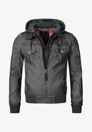 AARON - Faux leather jacket - raven
