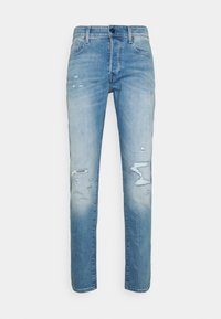 G-Star - 3301 SLIM - Slim fit jeans - azure stretch denim - 4