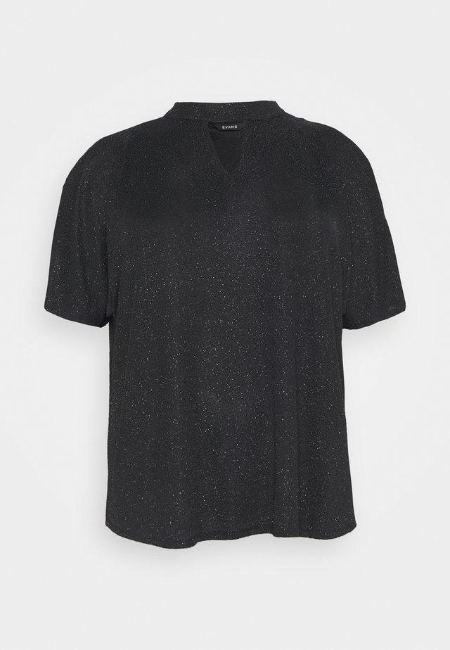 GLITTER BRILLO BUBBLE - Blouse - black