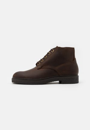 BRIGGS - Šněrovací kotníkové boty - brown