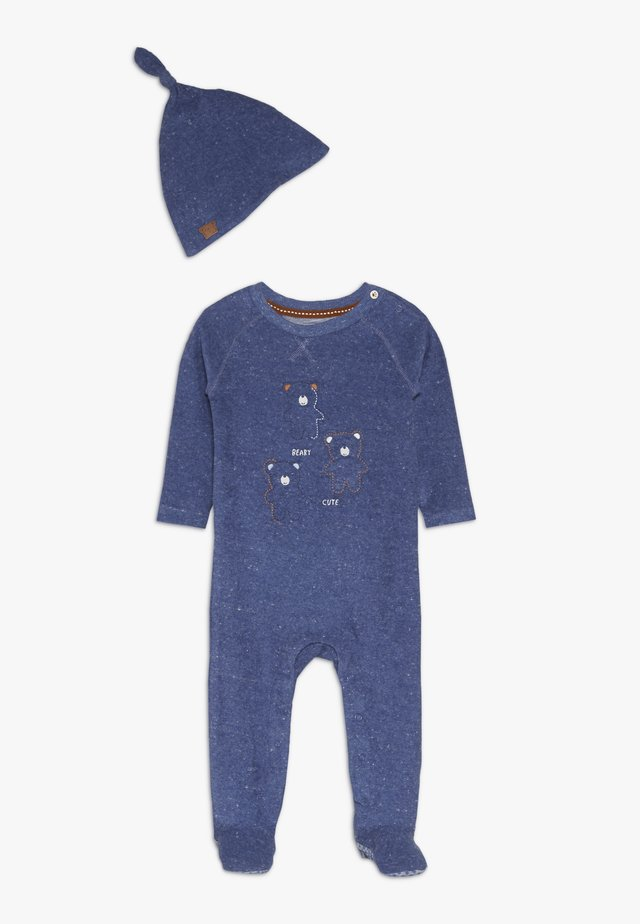 BABY TOWELLING AND HAT - Kruippakje - blue