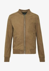 DAILY - Leather jacket - coffee