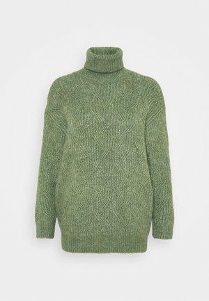 PARISA - Strikkegenser - khaki green