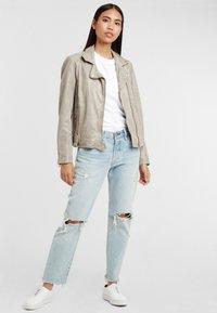 Gipsy - Leather jacket - grau grey - 1