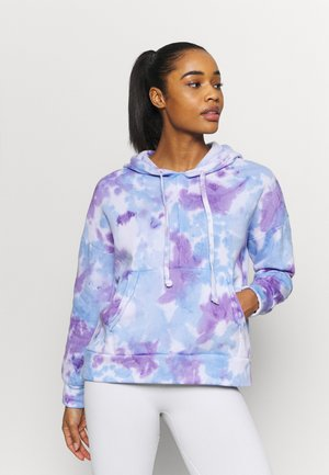 TIE DYE WORK IT OUT HOODI - Sweatshirt - purple