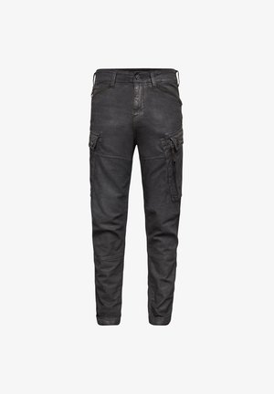 ROXIC STRAIGHT TAPERED  - Cargo trousers - dk black soft cobler