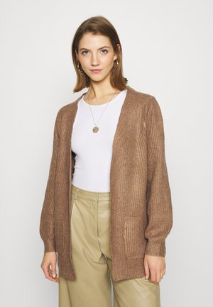NMLUKE CARDIGAN - Vest - toasted coconut