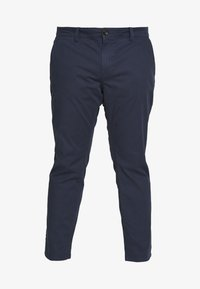 TOM TAILOR MEN PLUS - WASHED STRUCTURE CHINO - Pantaloni - navy yarn dye structure - 5