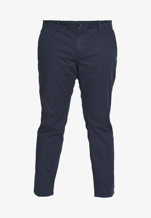 WASHED STRUCTURE CHINO - Bukse - navy yarn dye structure