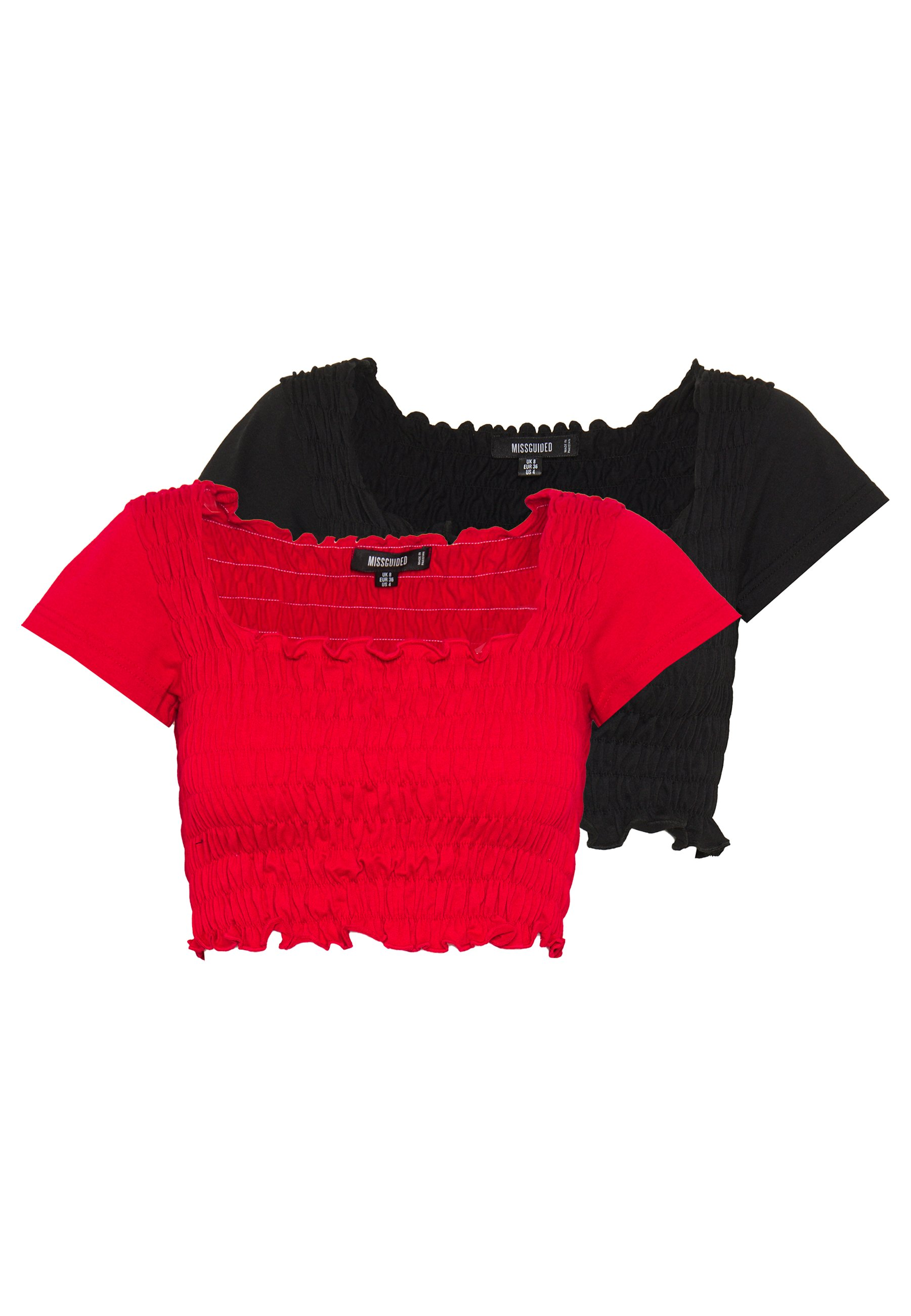 Damen SHIRRED CROP 2 PACK - T-Shirt basic