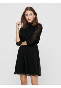 ONLY - LOCKER GESCHNITTENES - Day dress - black - 0
