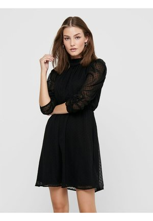 LOCKER GESCHNITTENES - Day dress - black