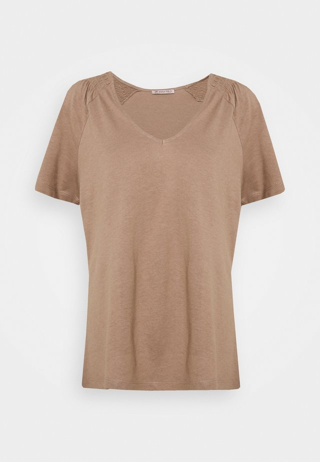 T-shirt basic - light brown